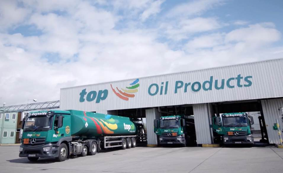 Top Oil distribution depot and trucks
