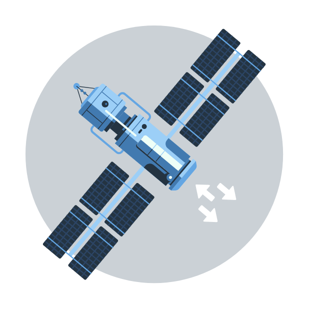 gps satellite graphic
