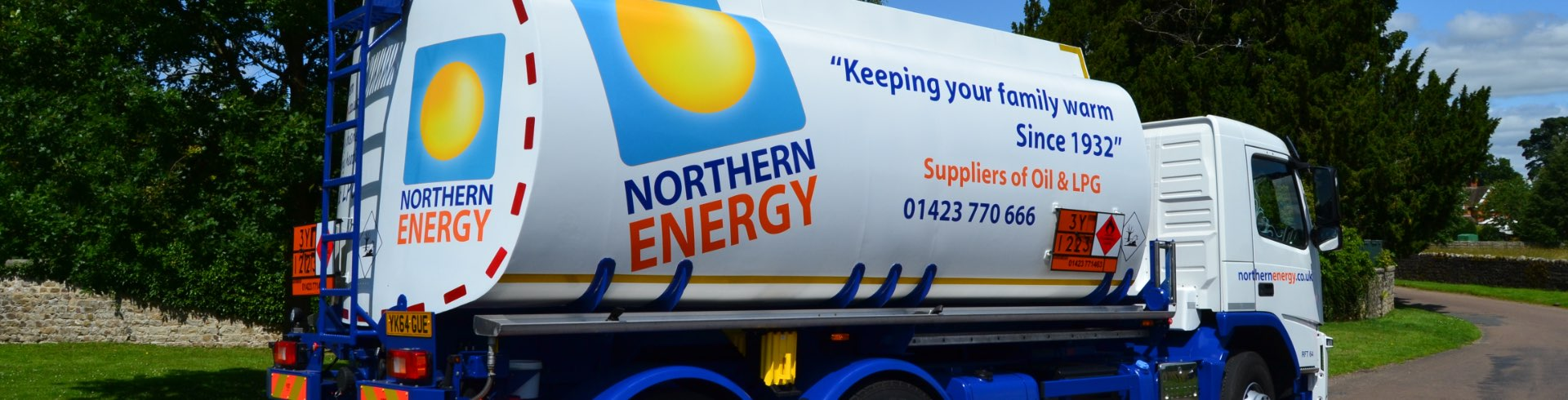 northern energy truck on a road